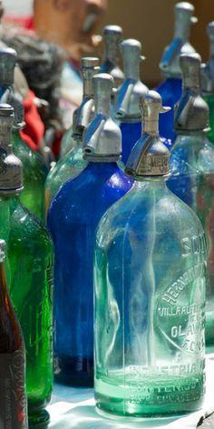 antique soda bottles ...