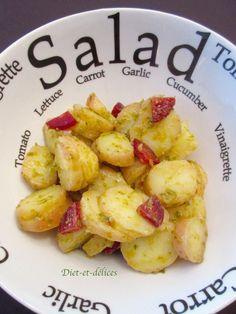 Salade de pommes de terre au pesto et au chorizo