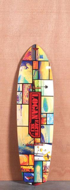 "Gravity 36"" Bruce Logan Collage Longboard Deck"