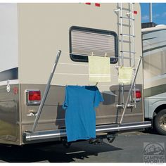 This has been one of our best purchases.  We use it every camping trip. Bumper Mount RV Clothesline