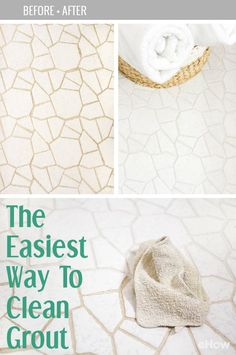 Clean that gross grout lines for less than $30! Don't despair if your bathroom tile sports dingy grout lines. With this grout makeover tutorial, you have the ability to skip the need to retile an entire space—which can quickly get messy and costly—and instead use a grout paint pen to make the space look bright white again. The entire project takes just an hour or two to complete depending on the size of your bathroom. A home cleaning DIY must!