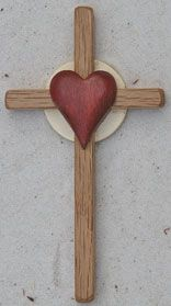 host-heart-big-front Wooden Cross Crafts, Wooden Crosses, Wall Crosses, Wooden Diy, Handmade Wooden, Reclaimed Wood Wall Art, Wood Art, Cross Art, Wood Carving Patterns