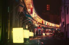 横浜市中区宮川 都橋商店街  -1964東京オリンピックのため屋台や露店の整理収容で大岡川沿いに造られた約60軒が入居する商店街
