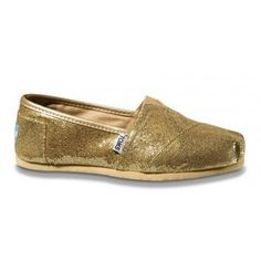 I'm 99% positive I'll be wearing Glitter TOMS (in either gold or silver) under my wedding dress one day.