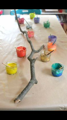 Very Reggio Emilia Art For Kids, Crafts For Kids, Art Activities For Kids, Reggio Art Activities, Kids Nature Crafts, Outdoor Preschool Activities, Kids Art Area, Painting Ideas For Kids, Fall Art For Toddlers