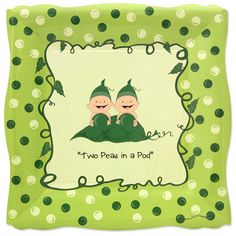 8 Count  Two Peas in a Pod Dinner Plates  by BigDotOfHappiness