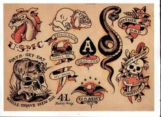 Tattoo Traditional Snake Sailor Jerry Ideas For 2019 Sailor Jerry Flash, Flash Art Tattoos, Dragon Tattoo Back, Sailor Jerry Tattoos, Tatuaje Old School, Old School Tattoo Designs, Japanese Dragon Tattoos, Traditional Tattoo Flash, Vintage Flash