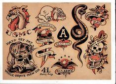 Tattoo Traditional Snake Sailor Jerry Ideas For 2019 Sailor Jerry Flash, Tatuaje Old School, Sailor Jerry Tattoos, Old School Tattoo Designs, Japanese Dragon Tattoos, Traditional Tattoo Flash, Vintage Flash, Tattoo Flash Art, Classic Tattoo
