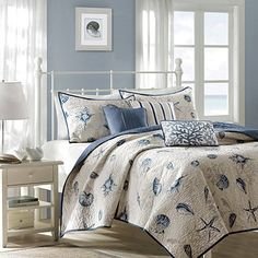 Madison Park Rockaway 6pc Coverlet Set- MERMAID/OCEAN theme teen room??