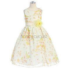 Floral Joy Yellow Easter Dress For Girls