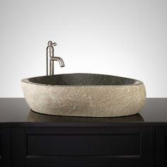 Kroto Black River Stone Vessel Sink