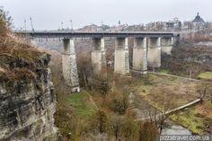 Міст через каньйон річки Смотрич в Кам'янці-Подільському