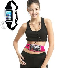 Running Waist Belt, IVVO Outdoor Sweatproof Reflective Belt Waist Bag with Zipper for iPhone 6S/6 Transparent Touch Screen Window, Universal Sports Waist Belt with Additional Extender (Black). Compatible with the iPhone6/6S, iPhone 5/5S/5C And Phone Under 4.7 inches. Fully adjustable to accommodate waists of 31.5 to 55 inches. Made of high-quality materials: Lycra + waterproof material + PVC + Velvet elastic band. Clear PVC window to access phone without opening(Touch ID function can't be...