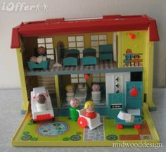 Fisher Price hospital- Never seen one of these, but would have played with it as a child.