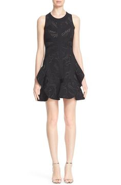Herve Leger 'Rana' Flare Plaited Rose Jacquard Dress $1,073.98  #BestReviews #shopping #WomensClothing