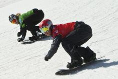 Trevor Jacob and Hagen Kearney compete during the Sprint U. Snowboardcross Grand Prix at Canyons Resort Saturday March Jacob won the men's division and Kearney finished in second place. Ski And Snowboard, Salt Lake City, Grand Prix, Division, Utah, Skiing, Photo Galleries, Powder, March