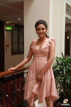 Indian Girl Actress Megha Chowdhury Photos At Varma Movie Teaser Launch Beautiful Blonde Girl, Beautiful Girl Indian, Most Beautiful Indian Actress, Beautiful Girl Image, South Indian Actress Hot, Indian Actress Hot Pics, Indian Actresses, Beauty Full Girl, Beauty Women