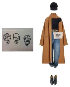 """Untitled #1989"" by kitkat12287 ❤ liked on Polyvore featuring Alberta Ferretti, Levi's, Michael Kors and Dr. Martens"