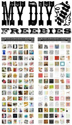 http://justsomethingimade.com/freebies/  Tons of Digital Freebies and Projects