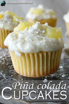 Pina Colada Cupcakes from http://dishesanddustbunnies.com