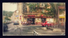 Siesta lunch in Bedarieux Bar, Lunch, France, Spaces, Travel, Painting, Viajes, Eat Lunch, Painting Art