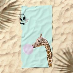 e6bef91e Beach towel Giraffe @ society6 - Paul Fuentes Design Beach Towel, Ranges,  Giraffe,