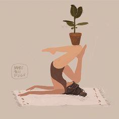 Yoga Illustration, People Illustration, Digital Illustration, Yoga Art, Illustrators On Instagram, Yoga Meditation, Namaste Yoga, Animal Design, Female Art