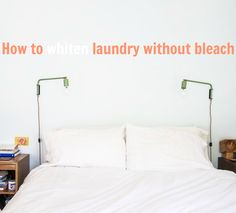 Many of us have banished chlorine bleach from our homes, as it can irritate the skin, eyes, and lungs; poison fish and insects; and release carcinogenic dioxins during production. Fortunately, there are still plenty of other ways keep white linens, socks, and other fabrics sparkling, and you probably already have the ingredients around your house.