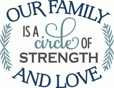 Silhouette Design Store - View Design #71907: family circle of strength & love - phrase