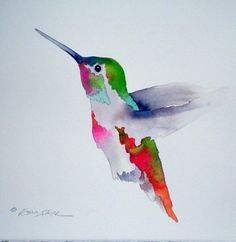 hummingbird watercolor