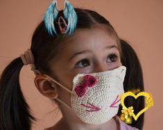 filter pocket crochet face mask pattern, children size 2-12 years old, pink crochet mask pattern, owl crochet mask Filter pocket crochet face mask pattern children size 2-12   Etsy<br> Face Masks, Crocs, Filter, Owl, Pattern, Etsy, Facial Masks, Owls, Model