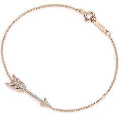 Tiffany Hearts® Arrow Bracelet ($1,350) ❤ liked on Polyvore featuring jewelry, bracelets, accessories, jewelry - bracelets, joias, 18 karat gold jewelry, tiffany co jewellery, heart shaped jewelry, heart jewelry and 18k jewelry