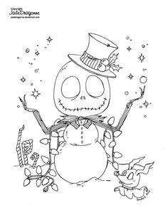 Nightmare Before Christmas Jack Skellington Snowman SVG Christmas Coloring Sheets, Halloween Coloring Pages, Coloring Pages To Print, Coloring Book Pages, Printable Coloring Pages, Jack Skellington, Nightmare Before Christmas, Tim Burton, Images Disney