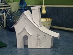 new Putz house patterns by christmasnotebook, via Flickr by cassie