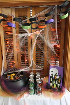 BOO your friends for a hauntingly fun time! Set this station up with M&M's®, SNICKERS®, TWIX®,  and MILKY WAY®, along with sodas like Canada Dry and A&W Root Beer! Use bags to put everything together - and don't forget the You got BOO'ed printable!