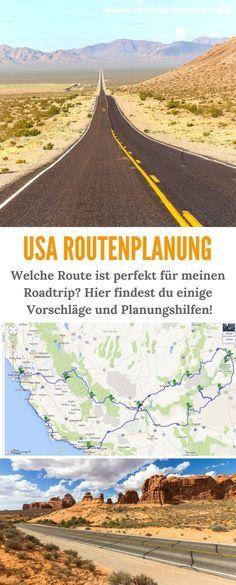 Routenplaner USA - Tipps und Vorschläge um die optimale Route für jeden Reisetyp zu basteln. Inklusive Bespielrouten und Zeitangaben. Die perfekte Routenplanung für den USA Roadtrip bzw. Rundreise.