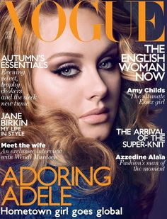 Adele covers Vogue UK October 2011
