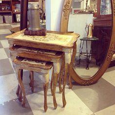 Set of 3 Vintage Italian Gilt Nesting Tables by CuriosityVintage, $165.00
