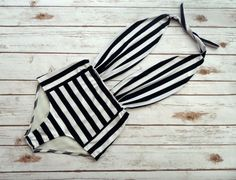 One Piece Swimsuit High Waisted Vintage Style Pin-up Maillot