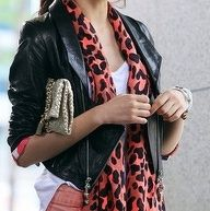 Leather jacket + animal print scarf... Has she seen our Puurrfect Apron!? xoxo Beautylove Aprons