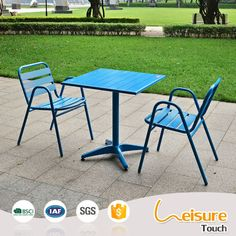 Aluminum outdoor chair stool restaurant bistro furniture cheap chairs