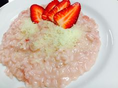 #Risotto con le #fragole. #Rice with #strawberries