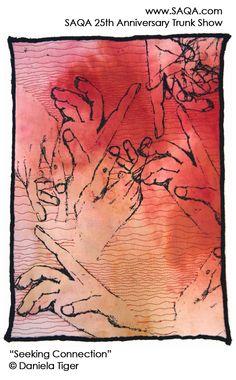 Art quilt by Daniela Tiger #artquilts #SAQA