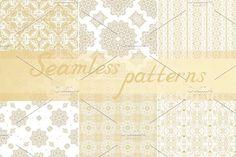 24 seamless vector ornaments  @creativework247