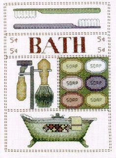 Bath - Cross Stitch Pattern