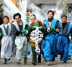 Flour-flinging oni keeps Japan's history & legends alive in Heian-era festival