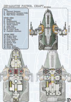 D5-Mantis Patrol Craft by DanielHasenbos.deviantart.com on @DeviantArt