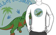 Cute Albertosaurus T-Shirt #albertosaurus #tyrannosaur #jurassic #green #kawaii