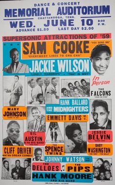 Jackie Wilson, went to some of these with a lot of stars...In Richmond, VA.....