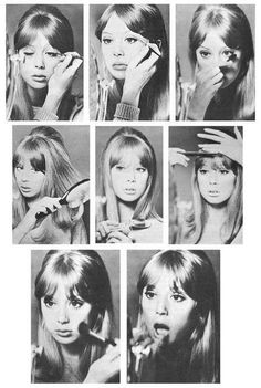 Pattie Boyd's Beauty Box: Lessons on make up and hair styling from 1965 Pattie Boyd.
